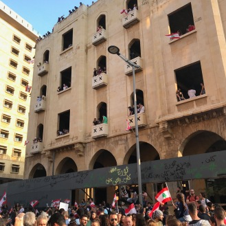 10/20/19 -protests near Martyr's Square